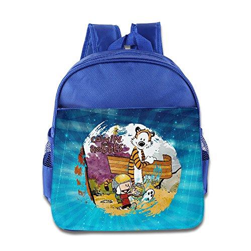 ELF STORY - Calvin And Hobbes Little Kid Baby Boys Girls Toddler Backpack Bag RoyalBlue