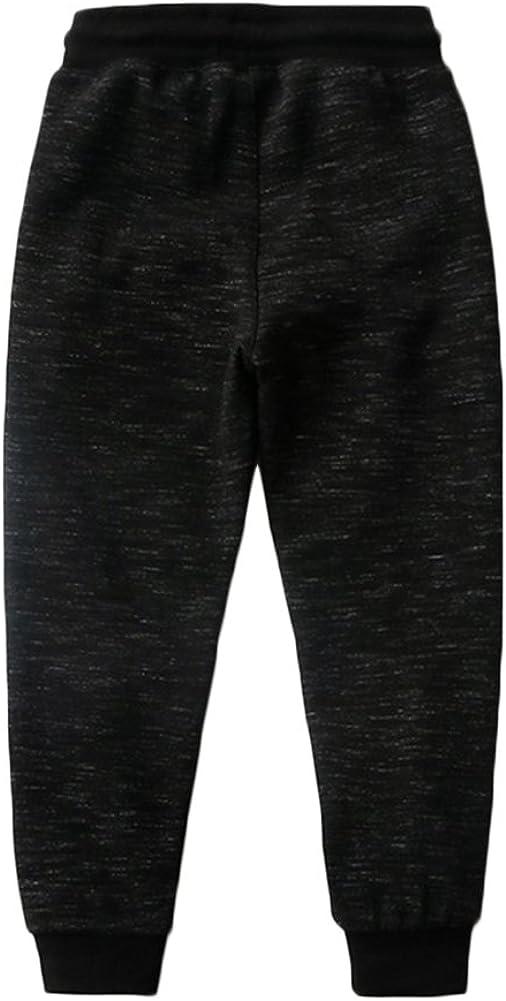KISBINI Big Boys Cotton Sweatpants Sweats Athletic Pants for Children