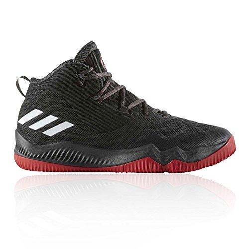 adidas D Rose Dominate III, Scarpe da Basket Uomo Nero/Rosso (Neguti / Negbas / Escarl)