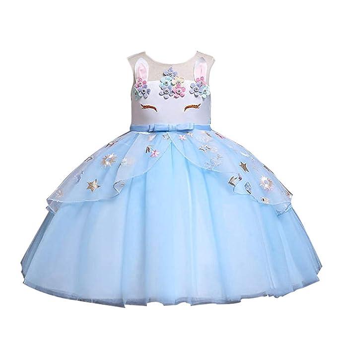 Luckycat Vestidos de Fiesta para Niñas Elegantes Lentejuelas ...