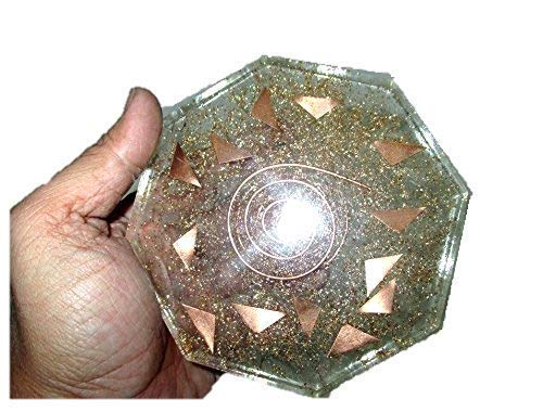 Jet New Crystal Quartz Orgone Vastu PlateFree Booklet jet International Crystal Therapy Energy Generator Crystal Image is JUST A Reference ()