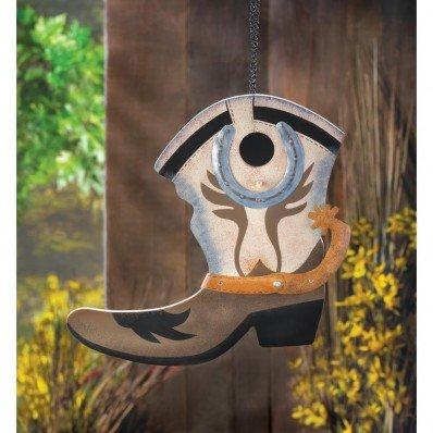Birdhouses Yard Garden Decor COWBOY WESTERN BOOT BIRDHOUSE Wild West Western