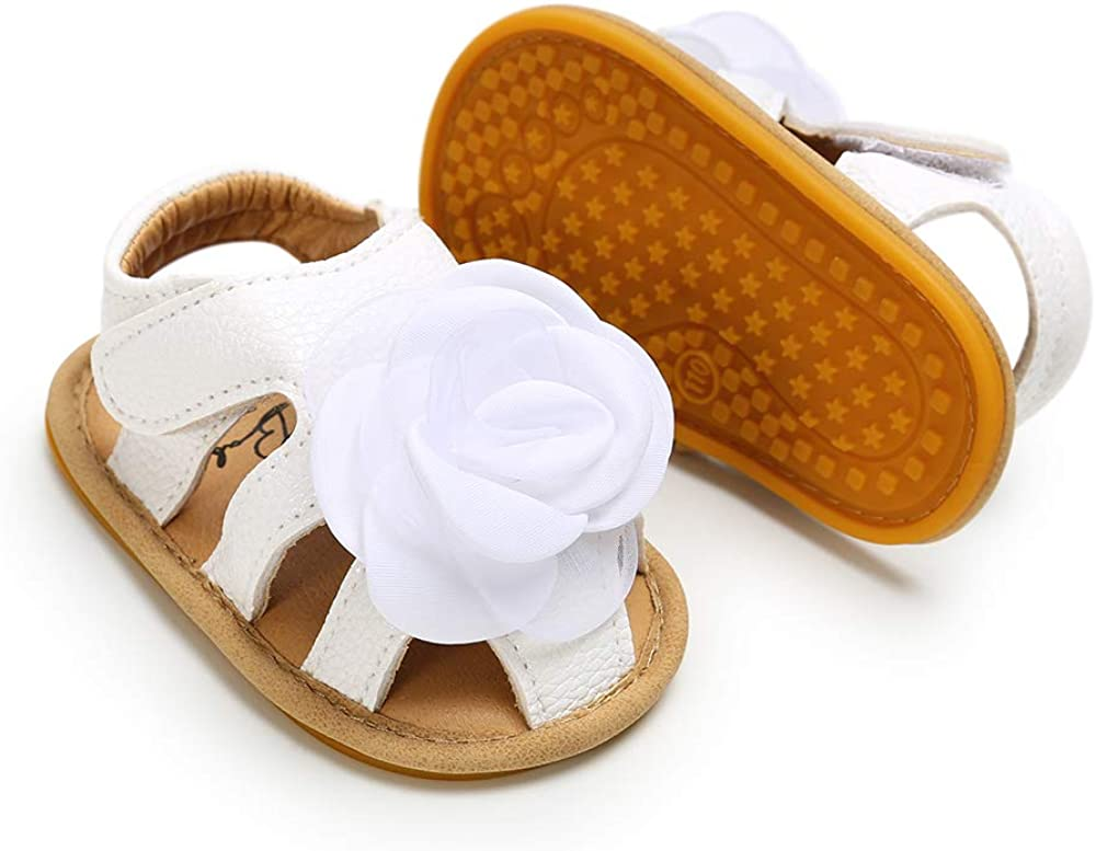 Tutoo Infant Baby Girl Shoe Toddler Flats Sandal Closed Toe Premium Soft Rubber Sole Anti Slip Summer Crib First Walker Shoe