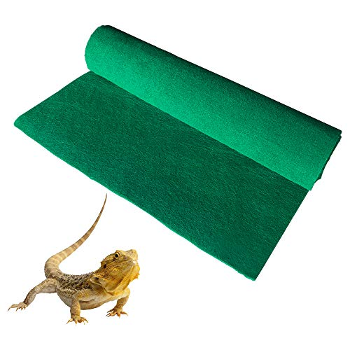 (Reptile Carpet,Terrarium Liner,Lizard Cage Liner,Tortoises Heat Mat,Chameleon Bedding,Iguana Substrate,Reptile Mat for Bearded Dragon,Turtles,Snake by BLSMU)