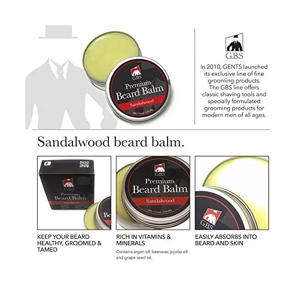GBS Men's Beard Grooming Doppler Kit- Travel Bag Includes Boar Bristle Beard Brush, Beard Shaping Template, Mustache Comb, Wood Beard Comb with Sandalwood Beard Balm & Oil Professional Barber Approved