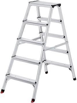 Multifuncional Escalera exterior, Escalera de metal de cinco escalones de doble escalón Escalera plegable de cuatro peldaños estable (Size : 485 * 1060 * 1090MM): Amazon.es: Bricolaje y herramientas