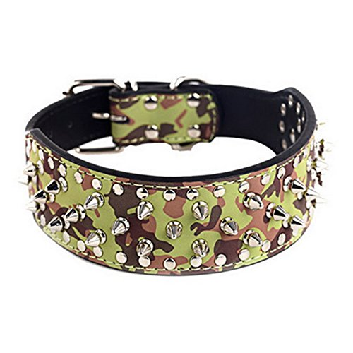 Cool Style 1 Rivet Bullet Collars Big Button Puppy Pet Necklace Adjustable Dog for Dog Camouflage p6xwSvx