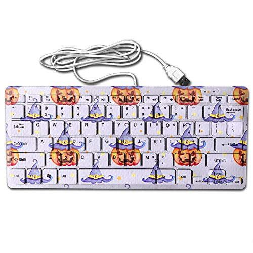 Decorative Halloween Pattern With Pumpkins Ultra-Slim 78 Keys Gaming Keyboard Can Apply Or Be Used Universally