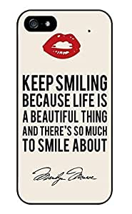 Color.Dream Marilyn Monroe Quotes Durable Hard Plastic Back Case Cover Phone Protective Case for iPhone 6 Plus (5.5 inch)