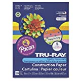 Office Products : Pacon Tru-Ray Construction Paper, 18-Inches by 24-Inches, 50-Count, Black (103093)