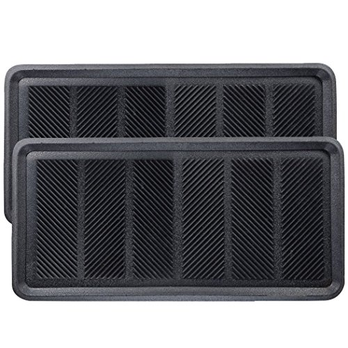 SafetyCare Heavy Duty Flexible Rubber Boot Tray Door Mat - 32 x 16 Inches - 2 Mats by SafetyCare (Image #10)