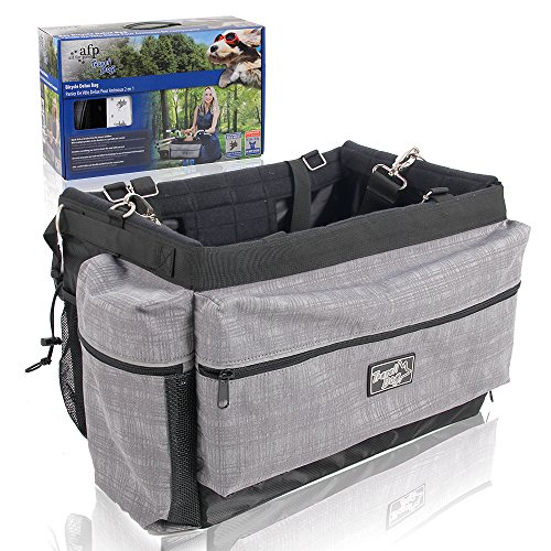ALL FOR PAWS Dog Basket Pet Bicycle Deluxe Bag