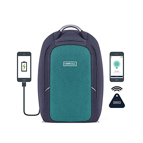 Carriall Polyester Green and Black Laptop Backpack for Men and...
