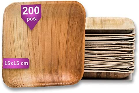 Waipur Platos Hoja de Palma Orgánicos – 200