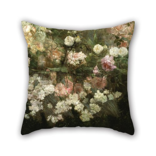 The Oil Painting Maria Oakey Dewing - Garden In May Pillow Shams Of ,16 X 16 Inches / 40 By 40 Cm Decoration,gift For Kids Boys,adults,gril Friend,bedding,car,wife (both Sides) ()