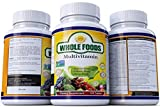 Whole Foods Multivitamin Supplements Best Natural Multivitamin 120 Tablets with Probiotic Blend, Digestive Blend and Omega Blend For Men and Women Non GMO
