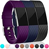 Maledan Replacement Bands (3 Pack) for Fitbit Charge 2,...