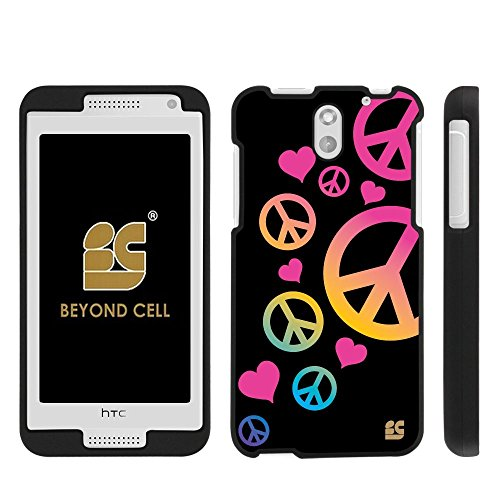 ,International,Prepaid)Beyond Cell ®Slim Protex Design 2 Piece Snap On Hard Rubberized Feel Non-Slip Matte Protective Phone Case - Peace Sign Design - Retail Packaging ()