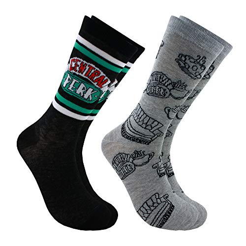 Hyp Friends Central Perk Men's Crew Socks 2 Pair Pack Shoe Size 6-12