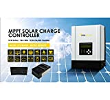PowMr 80A mppt solar charge controller 48V/24V/12V Max 150V 4600W solar charge with Backlight LCD Display waterproof and weatherproof heat cooling (80A-MPPT)