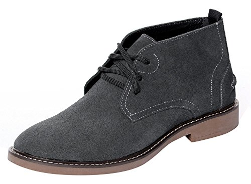 Serene Mens Leather Winter Faux Comfortable Lace-Up Ankle