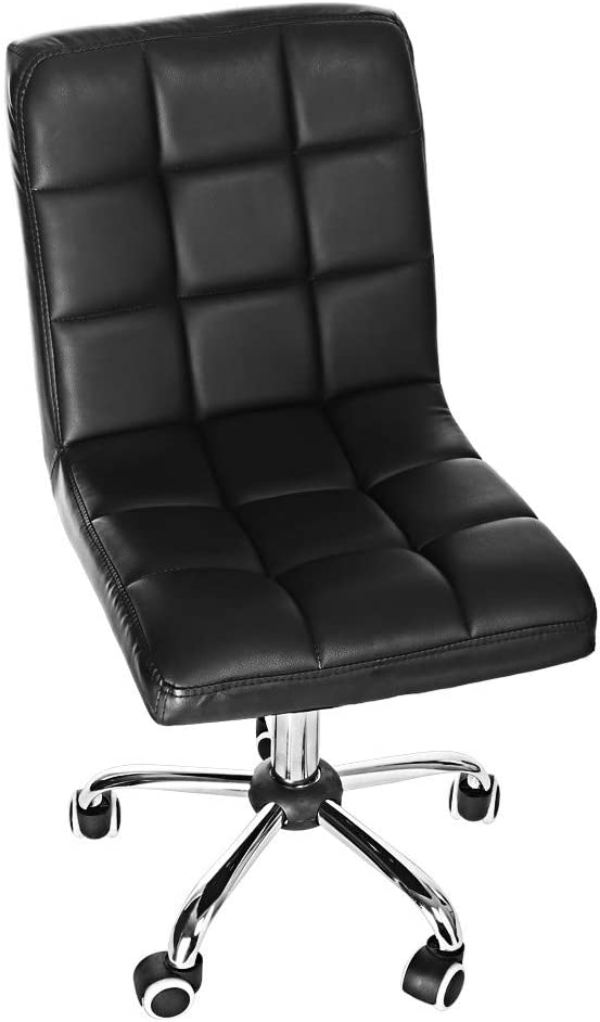 Casual Home Office Chair Fashion Backrest Chair Lift Passenger Seat Reception Chair Black
