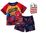 Marvel Spider-Man Little Boys' Pajama Set & Bag - Multi-Pack (2T)