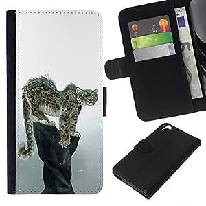 EJOY---La carpeta del tirón la caja de cuero de alta calidad de la PU Caso protector / HTC Desire 820 / --Enfriar Snow Leopard