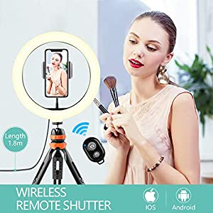 Este aro de luz es ideal para videos de maquillaje.