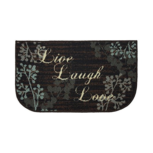 Structures Textured Loop 18 x 30 in. Wedge Kitchen Rug, Live Laugh Love by Structures (Image #4)
