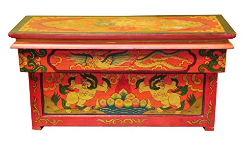 Tibetan Handmade Hand Painted Folding Table, Altar Table
