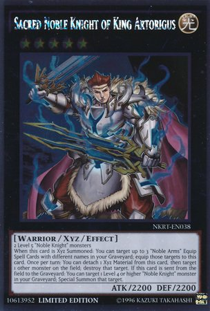 Yu-Gi-Oh! - Sacred Noble Knight of King Artorigus (NKRT-EN038) - Noble Knights of the Round Table - 1st Edition - Platinum Rare (King Of Knights)