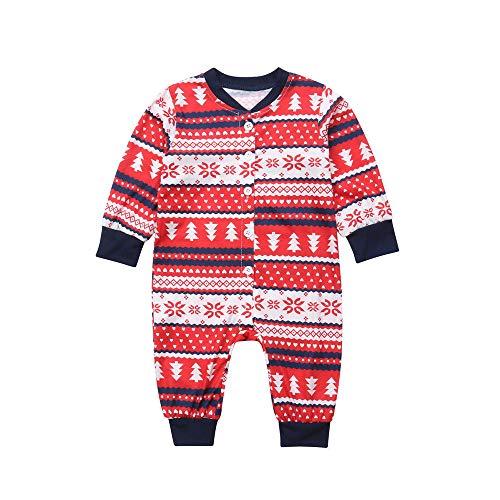 Franterd Christmas Family Matching Clothes Set Xmas Strip Pa