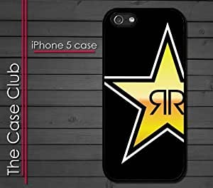 iPhone 5 Rubber Silicone Case - Rock Star Black Yellow Rock
