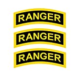 US Army - Ranger Tab Patch Decal Three Pack - Three Five Inch Wide Full Color Decals