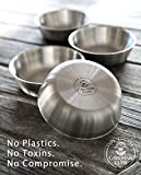 Premium Heavy Duty Stainless Steel Bowls For Baby Toddler Kids Snacks 4 Pack