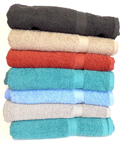 "6-Pack 30"" x 54"" 100% Cotton Extra-Absorbent Bath Towels"