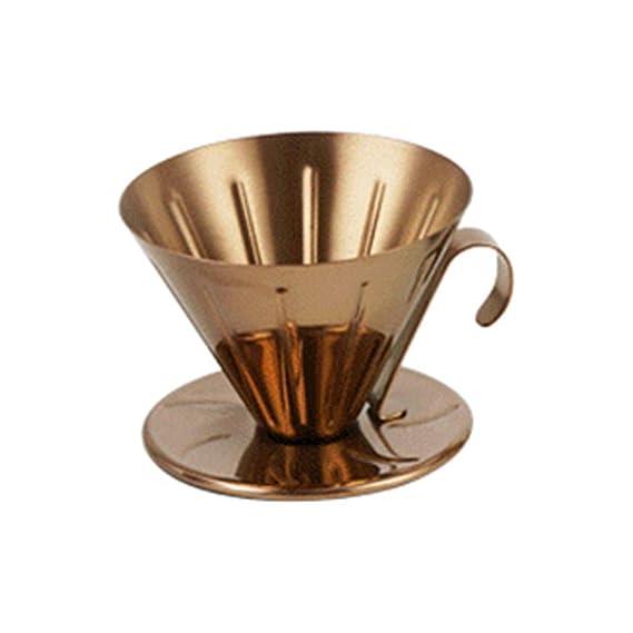 COKFEB Filtro de café Goteador Taza de Acero Inoxidable Cafetera ...