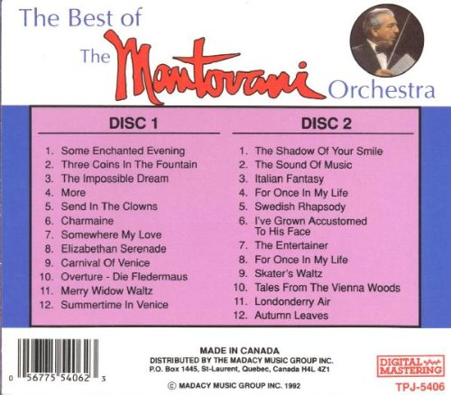 The Best of the Mantovani Orchestra by Madacy Records