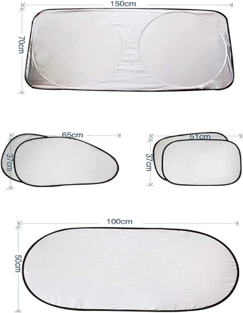 Car Sun Shade Windscreen SunShade,Blocks UV Rays Sun Visor Protector,Car Sunshade can keep the vehicle cool and without damage,Car Sun shade for side windows and front and rear windows 6 pack