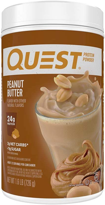 Quest Nutrition Peanut Butter Protein Powder, High Protein, Low Carb, Gluten Free, Soy Free, 25.6 Ounce (Pack of 1)