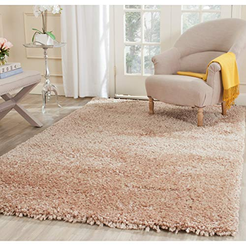 (Safavieh Popcorn Shag Collection SG267B Handmade Beige Polyester Area Rug (8'6