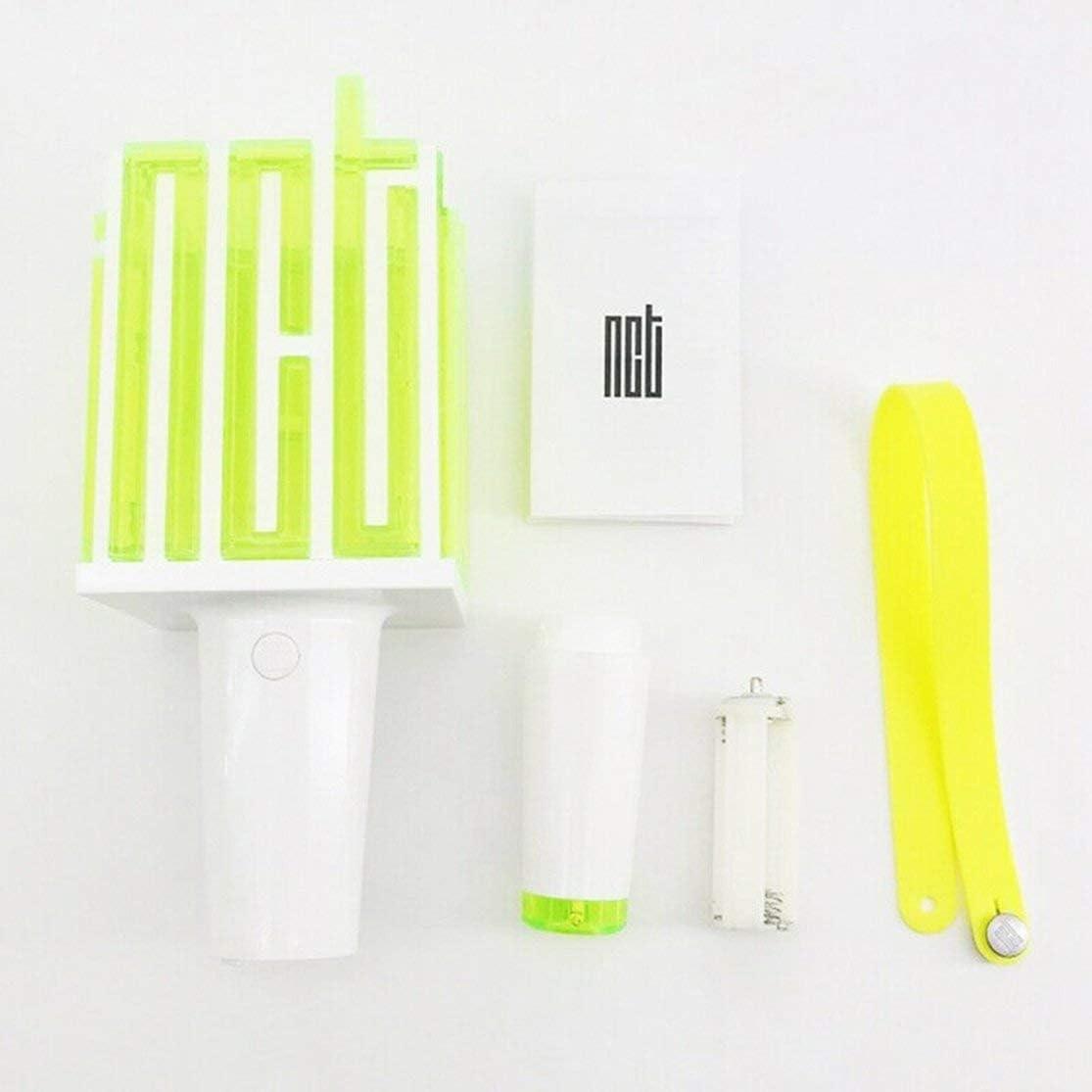 Color:black /& green Kaemma Portable LED NCT Kpop Stick Lamp Hiphop Lightstick Official Concert Lamp fluorescent stick aid rod Official