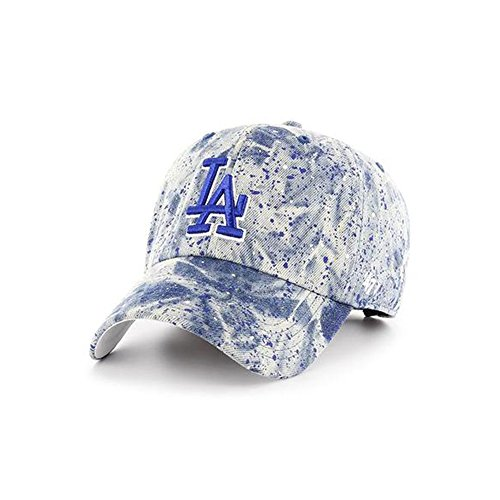 '47 Brand Los Angeles Dodgers Splat Clean Up Denim Paint Splatter Slouch Fit Hat - Paint Splatter Cap
