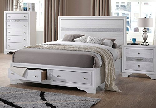 ACME Furniture Naima 25770Q Queen Bed with Storage, White