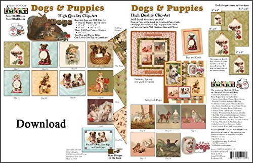 ScrapSMART - Dogs & Puppies Collection Software - Jpeg & PDF Files [Download]