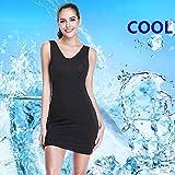 e2a4033bcc1d1 Full Slips for Women Long Body Shaping Cami Slip Seamless Slimming Deep V  Slip Under Dresses (Black