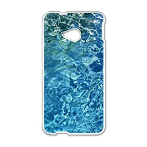 Clear Blue Water Fashion Personalized Phone Case For HTC M7