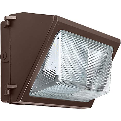 LED Wall Pack - 35 Watt - 4200 Lumens Equal to a 175W MH and Uses 80% Less Energy - 5000 Kelvin - 120-277V - Bronze Finish - Single 175w