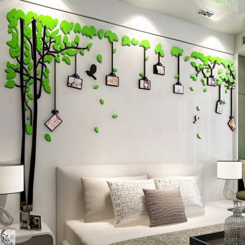 3D Tree Dome Wall Stickers With Photo Frames 60